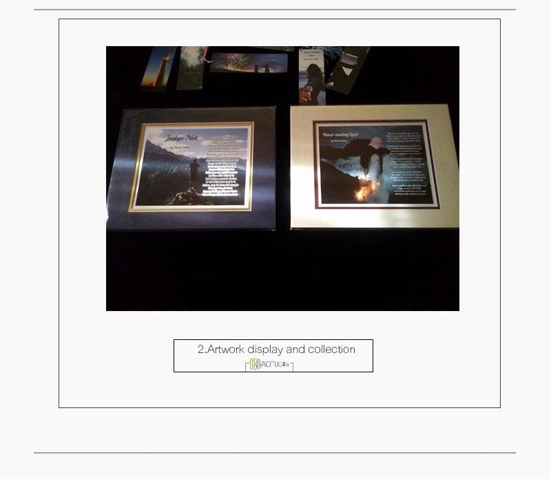 Foto Ordner Säure Freies Karton Bild Rahmen mit Gold Linie für 4x6 ...