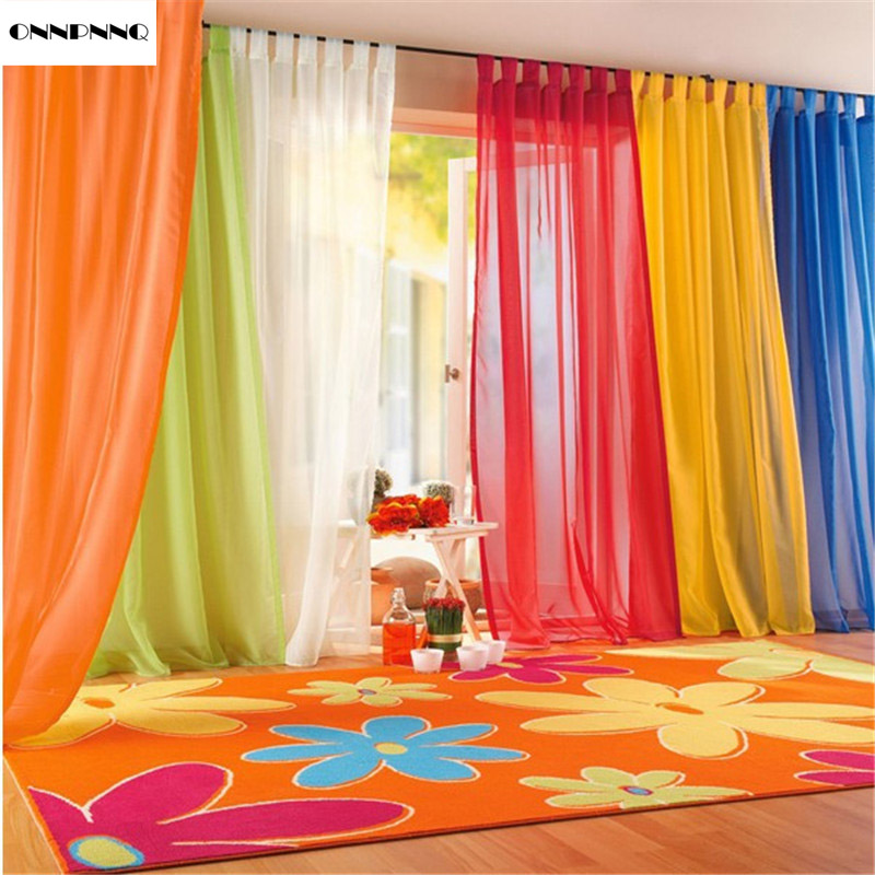 m x m multicolor de tul ventana de la puerta cortina panel voile cortinas