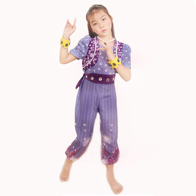 Shimmer and Shine Boxed Shimmer Dress Up Set Pre School Costume Girls Outfit cosplay costumes Free shipping