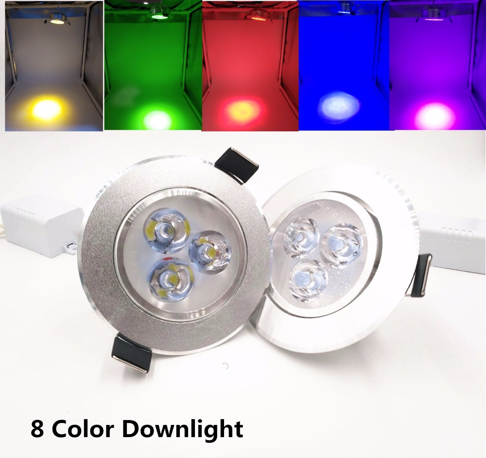 Humorous Silver White Ultra Bright Led Downlight 3w Beam Angle Thin Round Led Ceiling Recessed Spot Light Ac85~240v Down Light 8 Colors Led Lighting