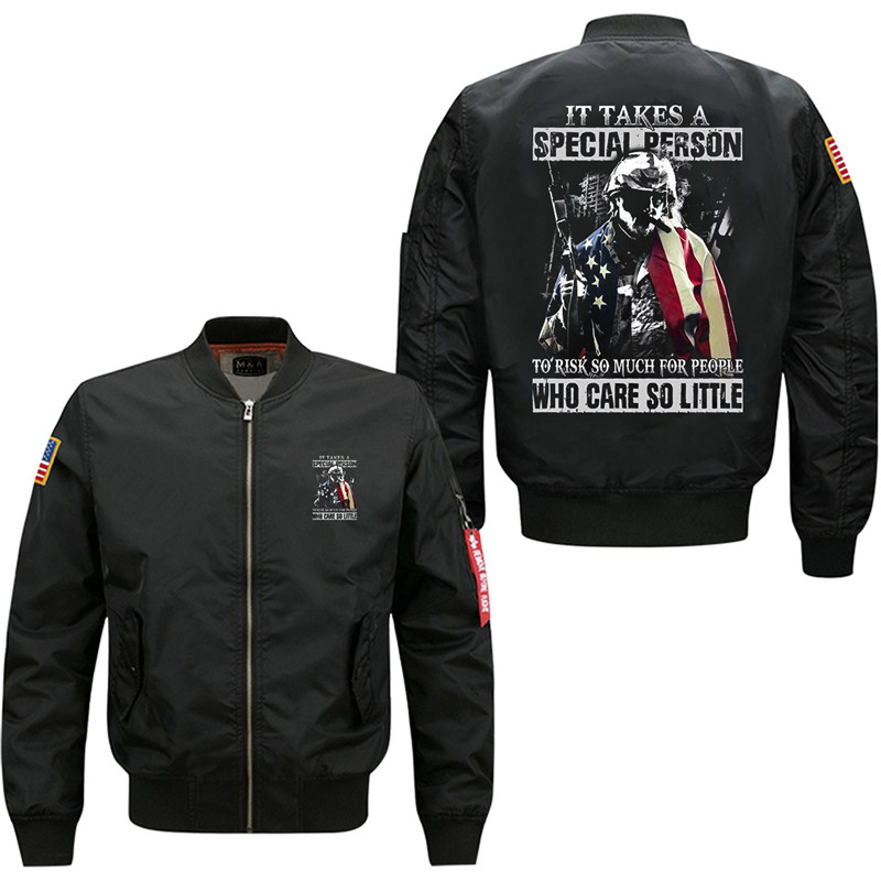 07 Duong It Takes A Special Person to Risk So Much For People Men's Bomber Flight Jacket