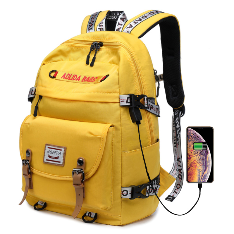Nouveau Design sac à dos de promenade décontracté femmes sac à dos solide toile sac d'école pour adolescentes garçons 14