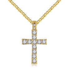 New Exquisite Bible Hip Hop Iced Out Cross Pendant Necklace For Man Women Pendant Gold Silver Tone Crucifix Charm Jewelry A382(China)