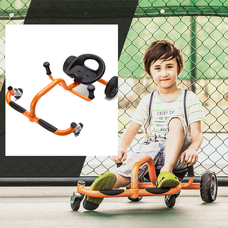 Four Wheels Foot Twister Children Swing Car Kids Twist & Go Bicycle for 2-6 Years Baby Ride on Toys Outdoor Drift Trike ...