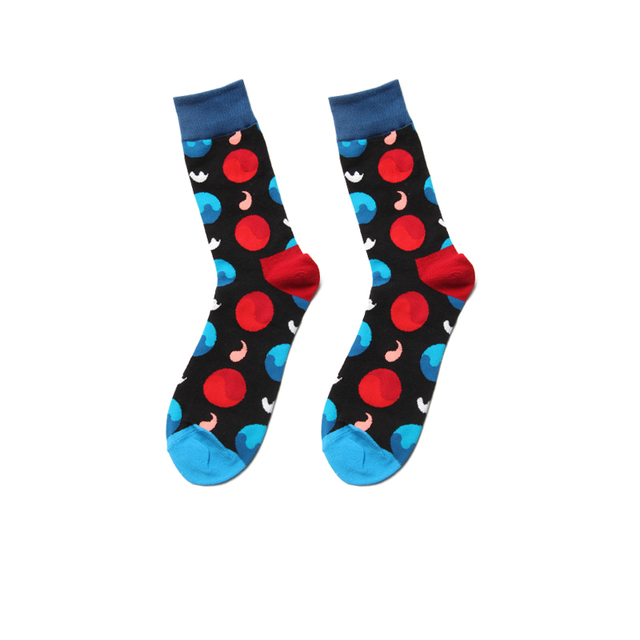 PEONFLY New Personality Originality Doodle Pills Pattern Art Socks Men Happy Harajuku Casual Funny Colorful Jacquard Cotton Sock