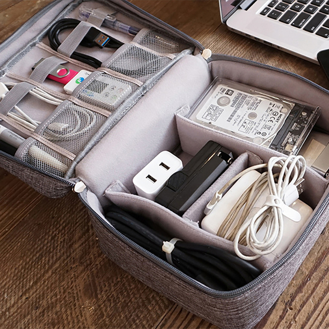 Travel Cable Bag Portable Digital USB Gadget Organizer for Charger Wires 4