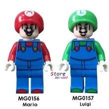98d76162cf8 Enkele Bouwstenen Super Mario Bros Luigi Dragon Ball Z Torankusu Cartoon  Serie Figuur model baksteen kinderen