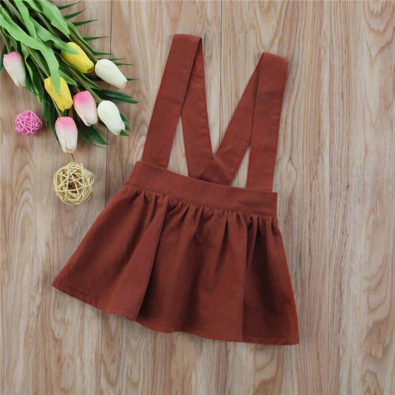 6M-3Y New Style Newborn Baby Girls Brace Skirt Party Tutu Sleeveless Skirt Overalls Skirt