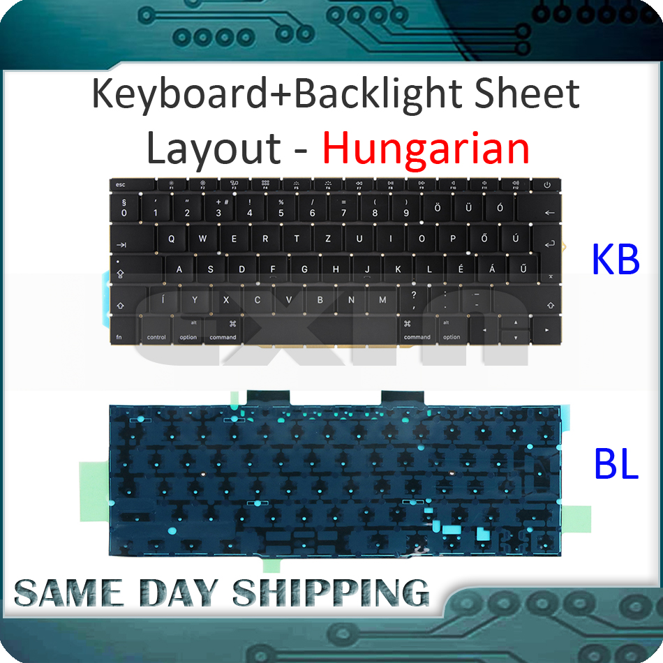 NEW for Macbook Pro Retina 13 A1708 Keyboard Hungarian Hungary w/ Backlight Backlit EMC 3164 EMC 2974 MLL42 MPXQ2 2016 2017NEW for Macbook Pro Retina 13 A1708 Keyboard Hungarian Hungary w/ Backlight Backlit EMC 3164 EMC 2974 MLL42 MPXQ2 2016 2017