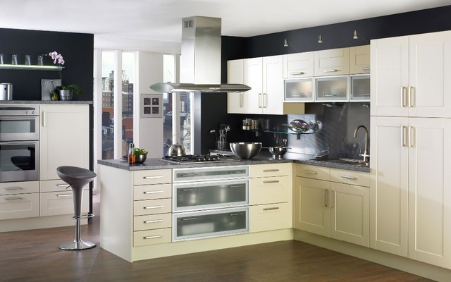 White MDF Thermofoil Pre Assembled Kitchen Cabinet With Price