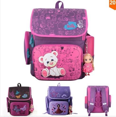 Cartoon Bear Backpack School Satchel Children School Bags Orthopedic Waterproof Backpacks Girls School Backpacks mochila escolar