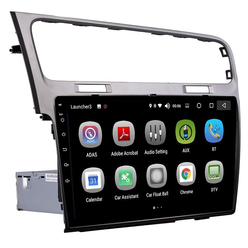 Android 8.0 voiture GPS 1 Din 10.1 pouces écran tactile voiture DVD Radio lecteur multimédia pour Volkswagen Golf 7 2013-2015