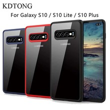 KDTONG Case For Samsung Galaxy S10E S10 Plus Soft Silicone Transparent PC Cover S 10
