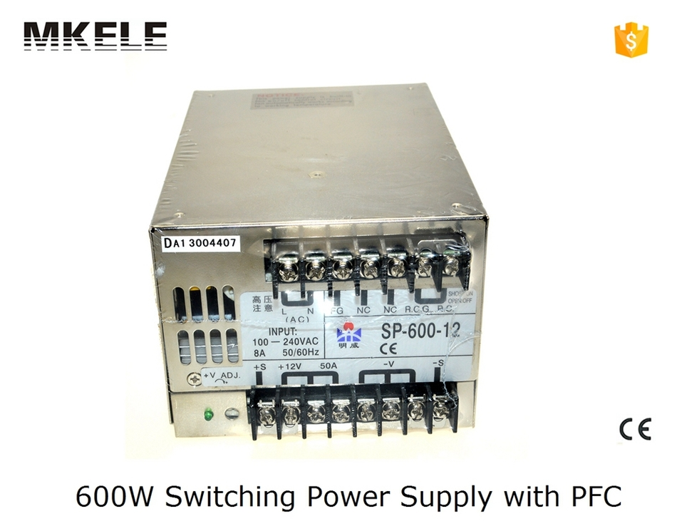 ФОТО 600w smps SP series multi terminals 24v25a pfc switch mode power supply 600w SP-600-24 25A with CE certified