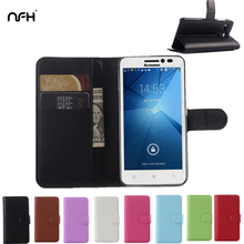 Litchi Leather Flip Case For Lenovo A606 A 606 with Wallet+2 Card Slot Cover For Lenovo A606 Silicon Back Cover Retro Phone Cas