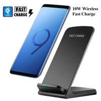 10W QI FAST Charge Glass Wireless Charger Pad For Samsung Galaxy S9 S10 Plus S10e S8 iPhone Xs 8 Huawei P30 pro Super Xiaomi 9