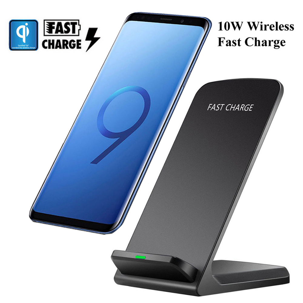 10W QI FAST Charge Glass Wireless <font><b>Charger</b></font> Pad For <font><b>Samsung</b></font> Galaxy <font><b>S9</b></font> S10 Plus S10e S8 iPhone Xs 8 Huawei P30 pro Super Xiaomi 9 image