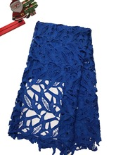 High quality nigerian wedding african lace fabric/100% Cotton lace/guipure cord fabric for party