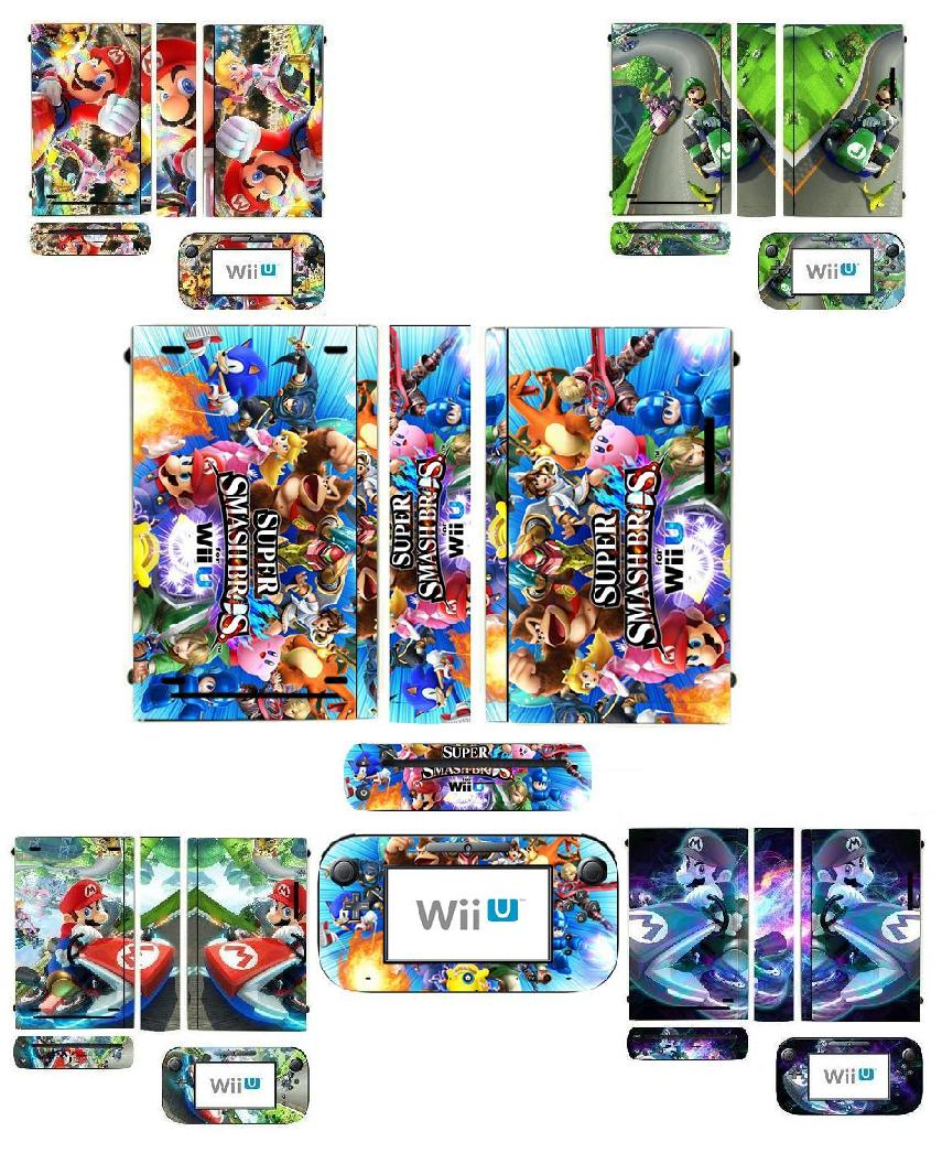 New MARI0 Cart Vinyl Skin Sticker Protector For Nintendo Wii U And Controller Skins Stickers