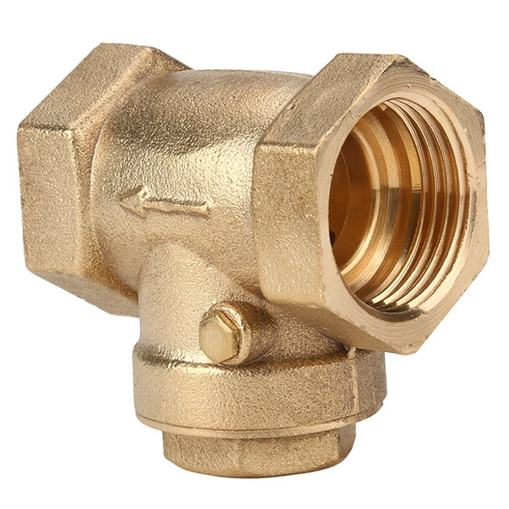 <font><b>3/4</b></font> Inch BSPP Swing Check <font><b>Valve</b></font> Prevent Water Backflow Golden DN20 image