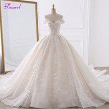 Vestido de Noiva/свадебные платья принцессы с кружевной аппликацией и цветами, 2020, милое бальное платье с жемчугом и Королевским шлейфом, свадебное платье