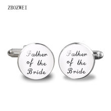 2018 Father of the Bride Cufflinks Father of the Bride Cufflinks I will be your little girl shirt clothing accessory jewelry(China)