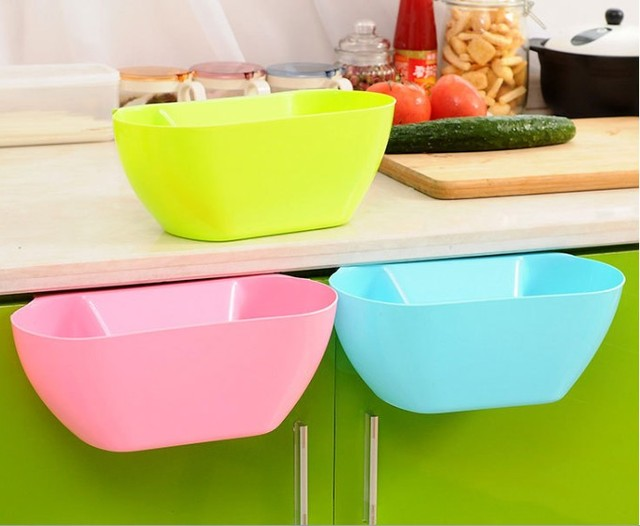 Kitchen Waste Basket Holder: Aliexpress.com : Buy 1PC Hanging Standing Kitchen Waste