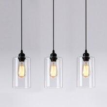 خمر الزجاج قلادة أضواء الكلاسيكية داخلي Handlamp غرفة المعيشة مصباح معلق مصمم لإضاءة المطاعم الإنارة