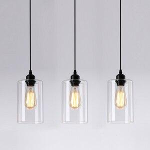Image 1 - Vintage Glass Pendant Lights Classic Indoor Handlamp Living Room Restaurant Pendant Lamp Luminaria Lighting