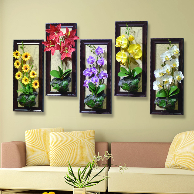 Artificial flower plant decorative wall Wall idyllic home decoration ...