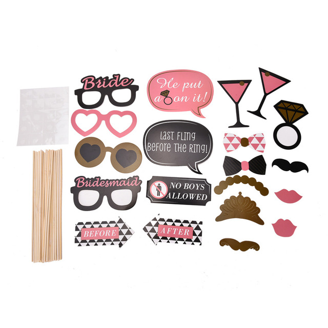 20pcs Mustache On A Stick Wedding Party Photo Booth Props Photobooth