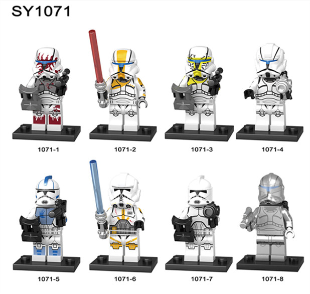 80pcs Star Wars Clone Soldiers trooper Figures Imperial Commander Neyo Building Blocks Bricks For Children Gift