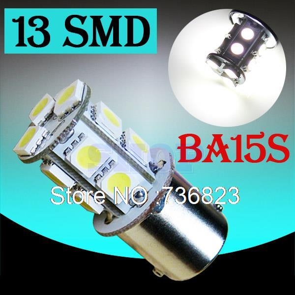 1156 BA15S 13 SMD White LED Bulb Lamp p21w R5W led car bulbs Turn Signal Reverse Lights Car Light Source parking 12V 020
