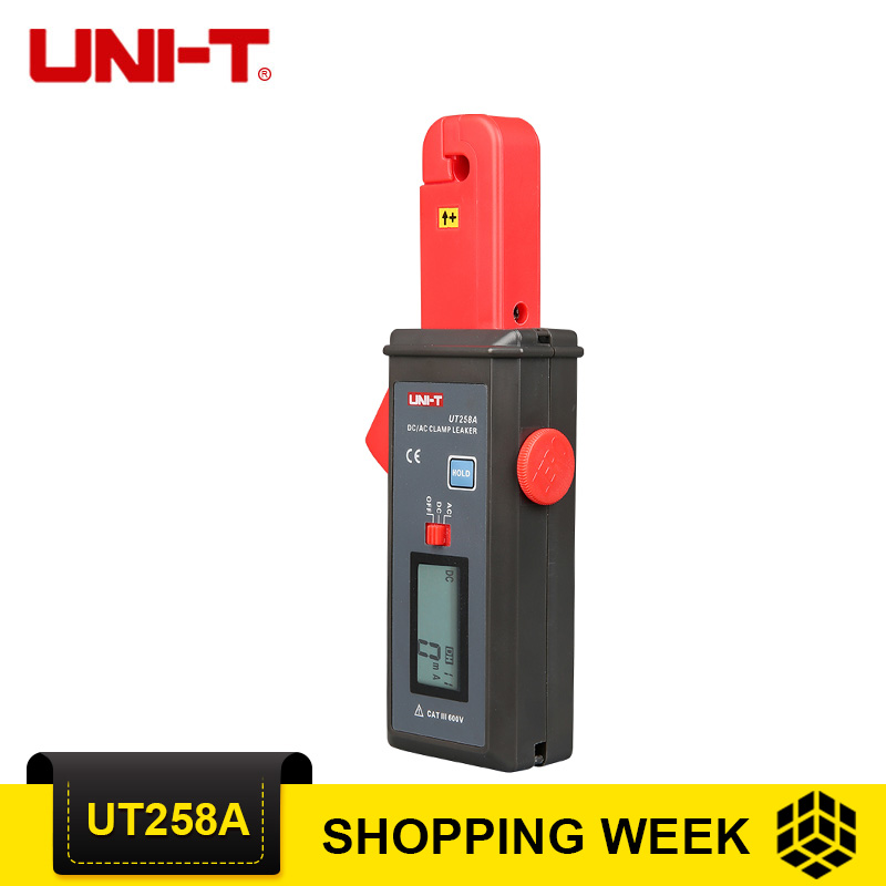 UNI T UT258A AC/DC Clamp Meters Ammeter Ampere Analog Meter Leakage Current Tester