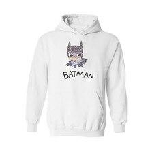 4xl xxs Plus size Fashion Batman Hooded Sweatshirt Outerwear in Black Mens cotton Hoodies Hip Hop