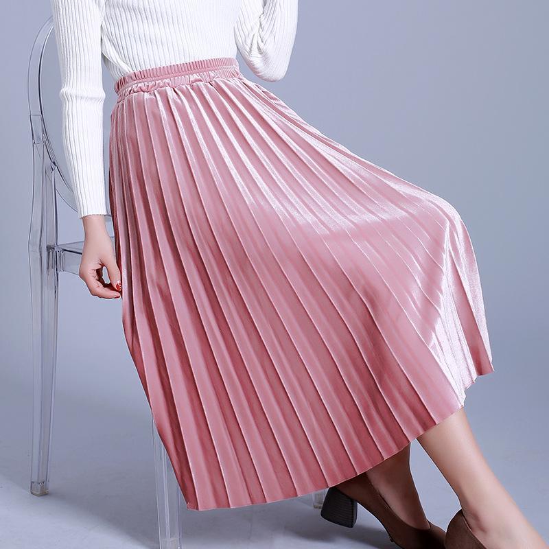 Masterbating women in pleated skirts — pic 5