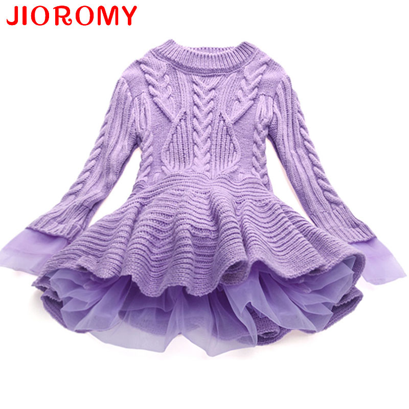 Thick Warm Girl Dress Christmas Wedding Party Dresses Knitted Chiffon Winter Kids Girls Clothes Children CLothing Girl Dress korea lace knitted sweaters warm dresses winter baby wear clothes girls clothing sets children dress child clothing kids costume