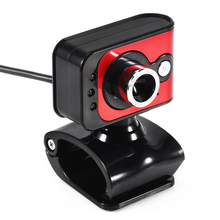 20Mega Pixels USB 2.0 HD Webcam Camera 3 LED WebCam Built-in MIC Focus Angle Adjustable Red