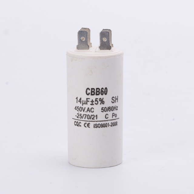 running capacitor CBB60 450V 14UF pump motor start capacitor 4 pins.
