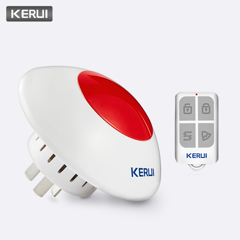 KERUI 433MHz 110dB Volume adjustable Wireless Alarm Siren Flash Horn Red Light Strobe Siren Alarm Kit Suit for Most Alarm SystemAlarm System Kits   -