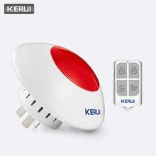 KERUI Volumen ajustable de alarma inalámbrica de sirena, 433MHz, 110dB, bocina Flash, luz roja, Kit de sirena estroboscópica, compatible con la mayoría de los sistemas de alarma