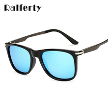 Ralferty Brand Polarized Sunglasses Men Square Mirror Aluminium Magnesium Temple Sunglass Polariod UV400 Driving Goggles 7036