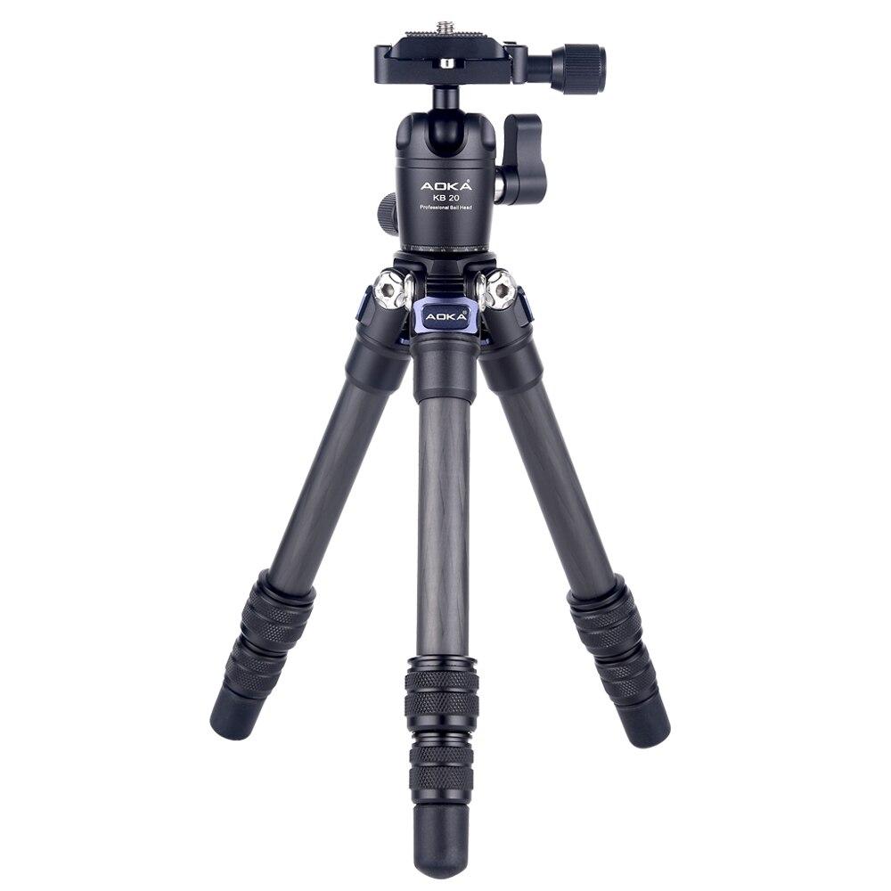 AOKA CMP163C 290g max chargement 3kgs léger table mobile DSLR en fibre de carbone mini trépied pour téléphone caméra