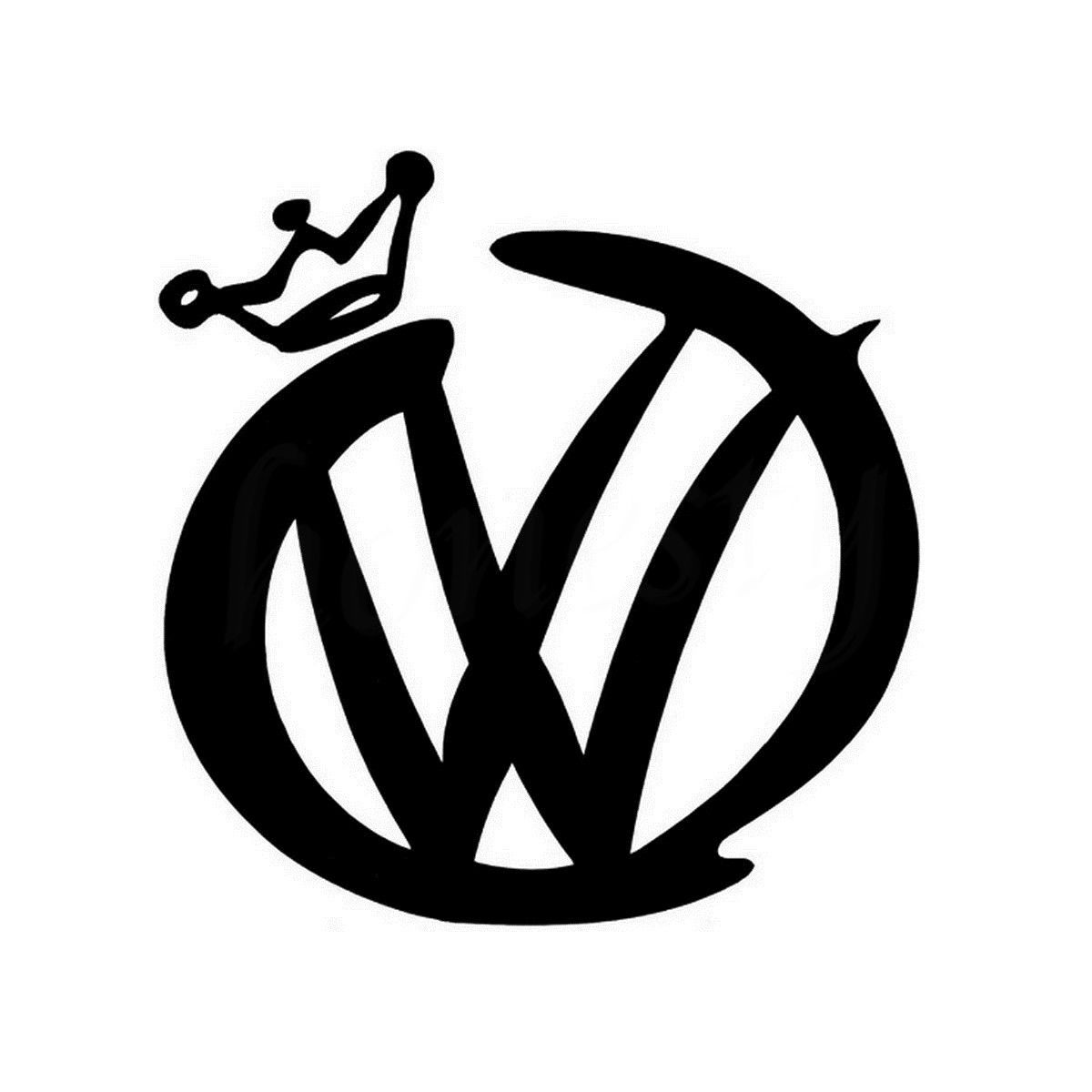 Fashion Vw Crown Car Motorcycle Decals Vinyl Waterproof Outdoor