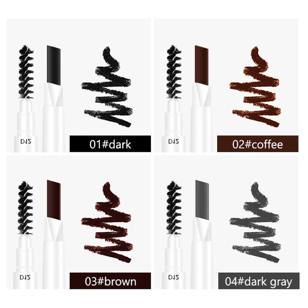 MIXDAIR eyebrow pencil dual ended white apperance beauty makeup drawing pen waterproof long lasting black coffee eyebrow MD007 3
