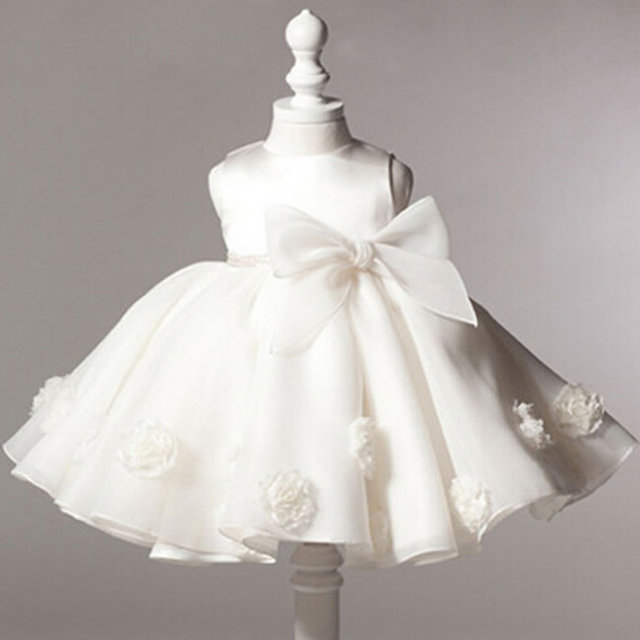 028650f81a6fd Robe de baptême d été pour bébé filles vêtements infantile nouveau-né arc  dentelle
