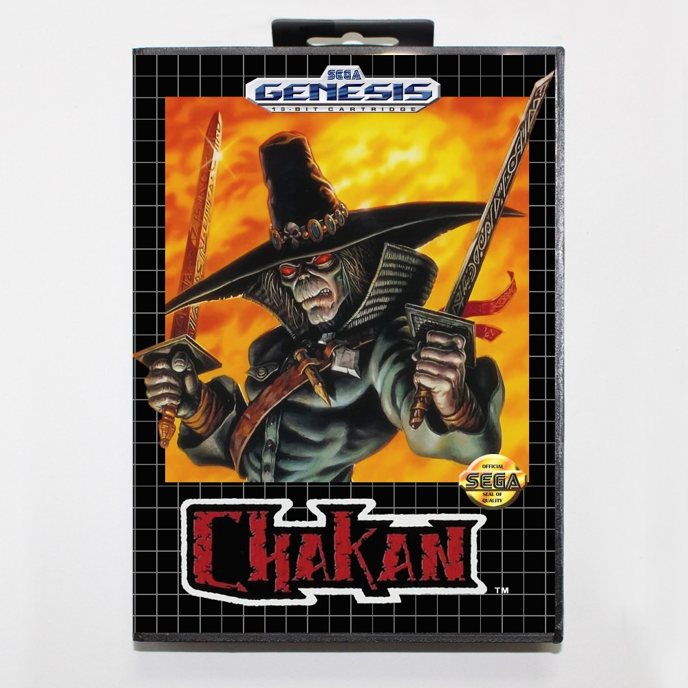 New 16 bit MD game card - chakan with Retail box For Sega genesis system