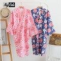 Новый Летняя мода мягкая кимоно женщины рубашки 100% хлопок свободные удобные дамы трусы рубашки халаты для женщин