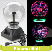Novelty Glass 3 4 5 6 Inch Magic Plasma Ball Touch Global Sphere Light Kids Room