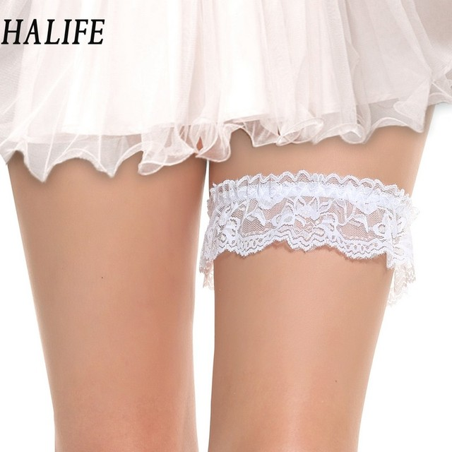 Women Las Lovely Elastic Bowknot Lace Flower Bridal Garter Belt Thigh Harness Leg Ring Party Wedding